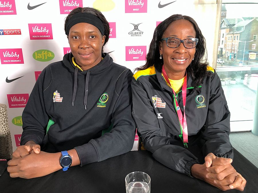 Jhaniele Fowler at Netball Nations Cup London