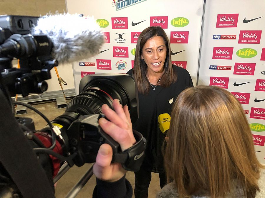 Silver Ferns coach Noeline Taurua at Netball Nations Cup London