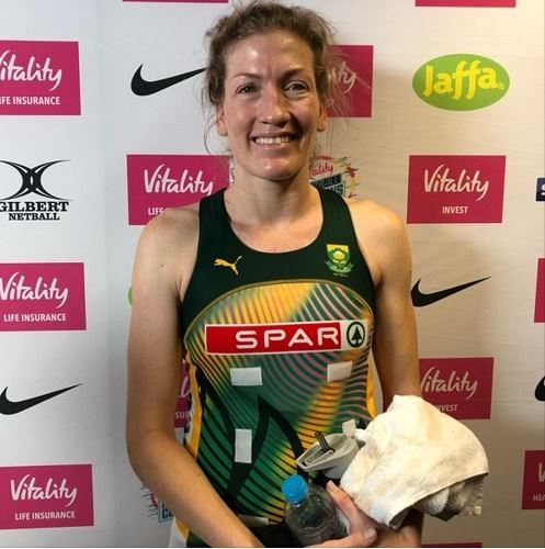South Africa & Sunshine Coast Lightning's Karla Pretorius at the Netball Nations Cup In London